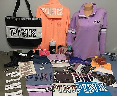 NWT Victoria's Secret Pink Wholesale LOT OF 30PIECES CLOTHING/ACCESSORIES Mixed