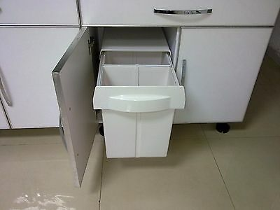 KITCHEN WASTE / GARBAGE BIN - Pull Out - 40 Litre Capacity (2 X 20L Twin Bins)