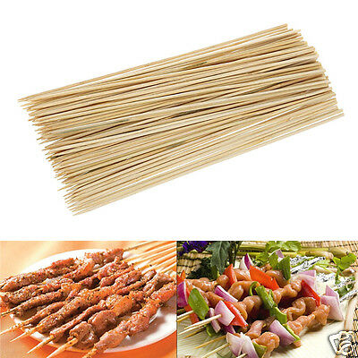 55Pcs 25cm Disposable Bamboo Skewers Grill Wood Sticks Outdoor Barbecue BBQ Tool