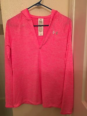 Under Armour Pink All Season Gear Hoodie Size M