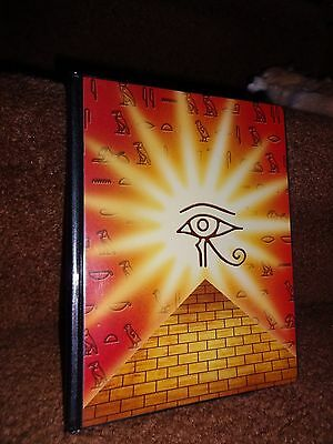 Toysite Egyptian Pyramid Eye Of Ra Collectable 80 Card Binder/holder Very Rare