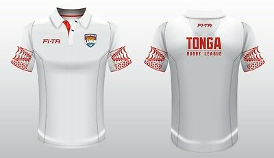 Tonga Mate Ma'a 2017 Rugby League Players Polo Shirt Sizes S-3XL! BNWT's