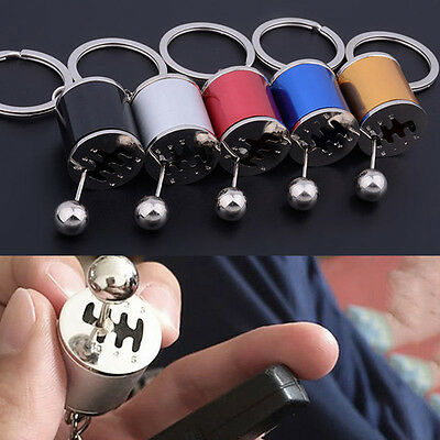Popular Gear Knob Gear Shift Gear Stick Box Metal Key Chain Keyfob Car Keyring
