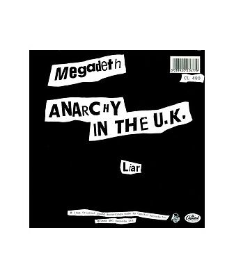 "[PR12709] Megadeth ""Anarchy In The U.K.""  - 12, EP Capitol Records 12CL 480"