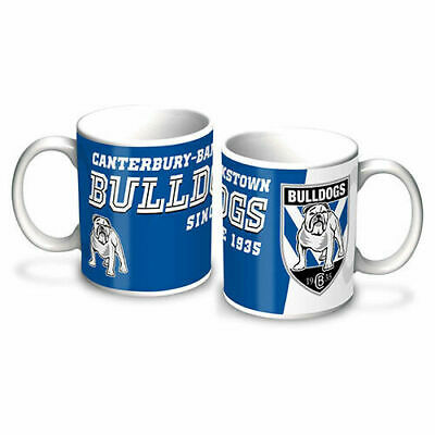 Canterbury Bankstown Bulldogs NRL Gift Team Logo Ceramic Coffee Cup Mug
