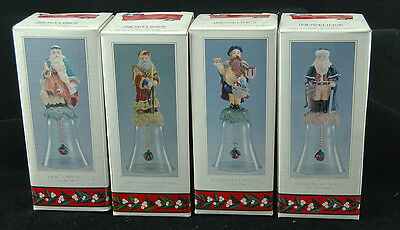 4 NOVELINO SANTA'S WITH BELLS Depicting Christmas through the Ages.