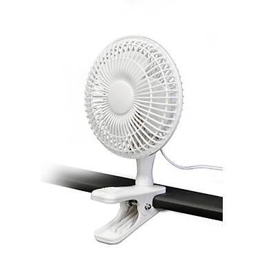 """Lloytron F1001 'STAY COOL' 6""""  Clip Fan With 2 Speed Control White"""