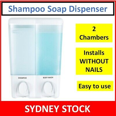 Shower Soap Dispenser Shampoo Conditioner Bathroom Wall Triple Pump Motel Hotel