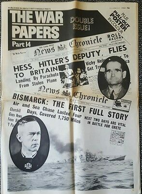 The War Papers Part 14 Double Issue. May 13th 1941. (Broadsheet)