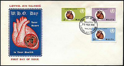 Malta 1972 World Health Day FDC First Day Cover #C42656
