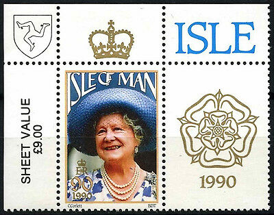 Isle Of Man 1990 SG#448 Queen Mother 90th Birthday MNH #D51290