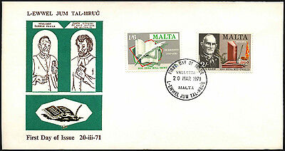 Malta 1971 Literacy Anniversaries FDC First Day Cover #C42652