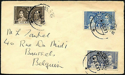 Aden 1937 KGVI Coronation Cover #C42242