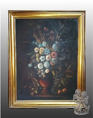 Quadro Olio Su Tela Natura Morta Xx Sec Italian Painting Stillife Oil On Canvas