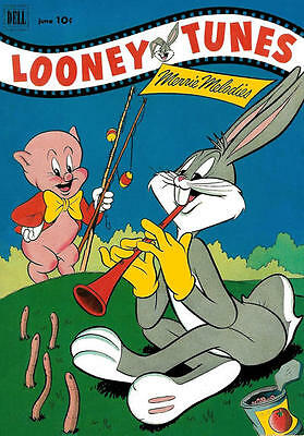 Bugs Bunny Looney Tunes 128 Dell 10 Cents American Comic + Free Hellium Balloon
