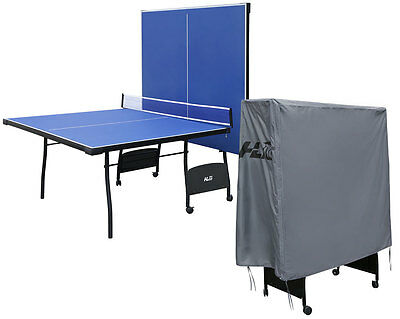 9ft Professional Folding Table Tennis Table Blue Ping Pang Table Set with Cover