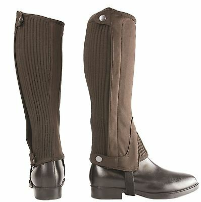 Hy Amara Adult/ Children Riding  Half Chaps Black/ Brown 4011P