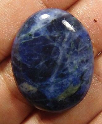 30 Cts. NATURAL DYED LOVELY OVAL SHAPE HOWLITE LOOSE CABOCHON GEMSTONE (H640)
