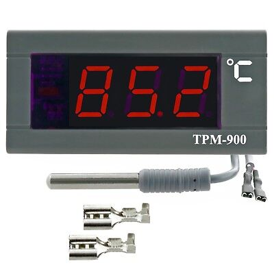 Panel Thermometer LED display BIG DIGITS 2m NTC sensor incl. -30...110°C 12V 24V
