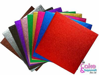 Cake Boards Coloured Square Drum, Various Colours Rose Gold ,Blue, Gold, Pink