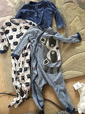 Boys Next Sleepsuits 12-18