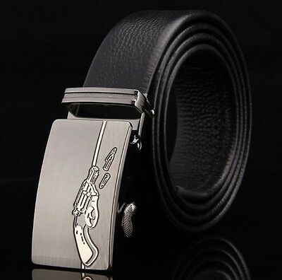 New Mens Designer Leather Belt Fashion Automatic Buckle Waist Strap Casual