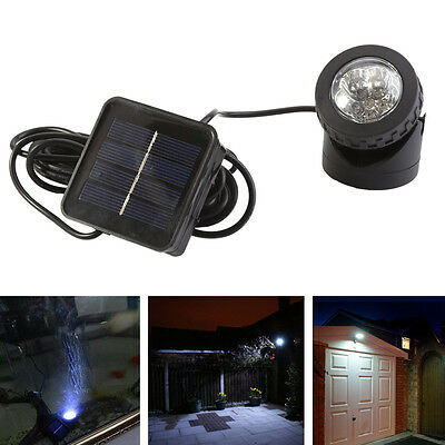 Solar Power 6 LED Light Outdoor Garden Landscape Lawn Path Pool Lamp Black Round