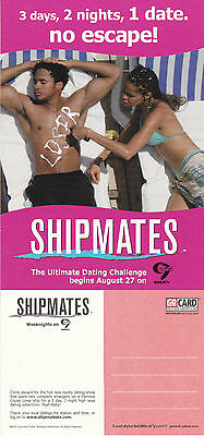 SHIPMATES ON CHANNEL 9 WWOR TV UNUSED ADVERTISING COLOUR  POSTCARD (a)