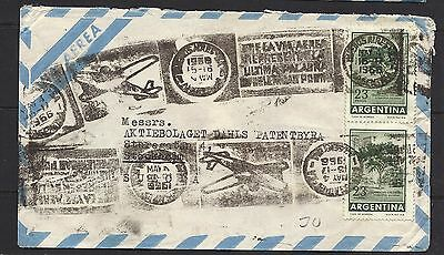 1966 Argentina Air Mail Cover to Sweden