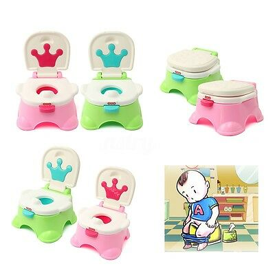 Cute Kids Baby Potty Toilet With Chair Seat Children Toddler Non Slip Training