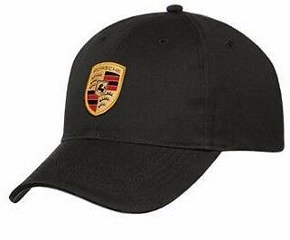 New Genuine Porsche Drivers Selection Black Crest Baseball Cap Hat WAP0800050C