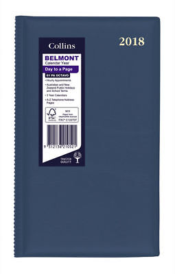 Diary 2018 Debden Belmont Navy Octavo Day to Page + Month Tabs 61PA 18x11cm