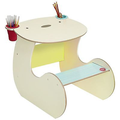 Bear Hug Mdf Desk & Chair New Kids Furniture - Built In Pen Pots - 517Sng01E