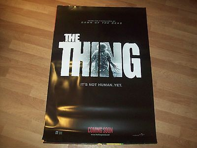 The Thing cinema one sheet Poster full size ORIGINAL D/S 2011 A
