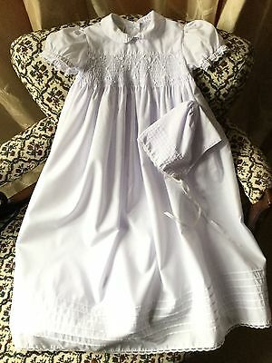 Bnwot 9Mo 'starting Out' Smocked Christening Gown With Bonnet Rrp £49.99