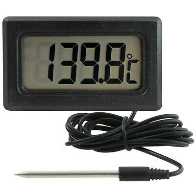 Electronic Thermometer with PTC cable probe sensor (1,5m) battery LCD -50 +150°C