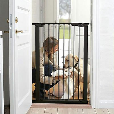 New Babydan Extra Tall Premier Pressure Pet& Baby Safety Stair Gate Black