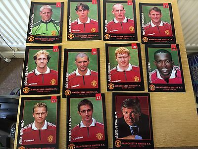 1998/99 Set of 11 Official  Manchester United TREBLE SEASON Football Postcards