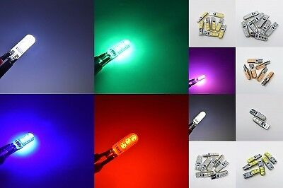 T10 Silicone 6 Smd Hid Bulbs Led Error Free Canbus White W5W 501 Side Light Car