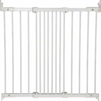 New Babydan White Metal Super Flexi Fit Extending Safety Stair Gate 67-106Cm