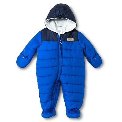 Just one you made by carters baby boys snowsuit blue