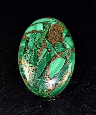 Elegant 43.10 Cts. Natural Copper Malachite Oval Cabochon Loose Gemstones