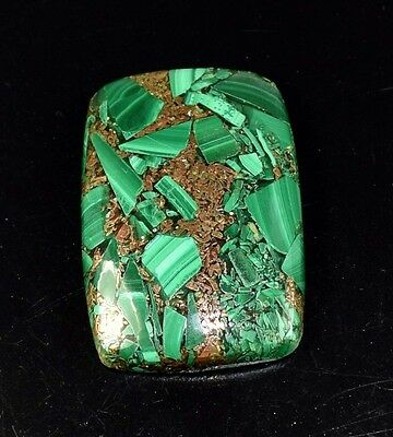 Elegant 46.30 Cts. Natural Copper Malachite Cushion Cabochon Loose Gemstones