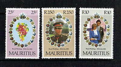 Mauritius 1981 Royal Wedding Set Of All 3 Commemoratives Mnh