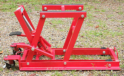 Motorcycle hydraulic lift - fine condition, max 1500lb.