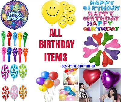 Self Inflating Happy Birthday Baloons Banner Bunting Party Decoration Balloon Uk