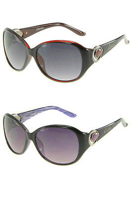 Gionni Womens Designer Oval Plastic Frame Sunglasses With Free Case Included