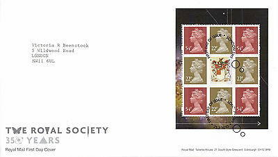 25 FEBRUARY 2010 THE ROYAL SOCIETY PANE RM FIRST DAY COVER LONDON SW1 SHS (a)