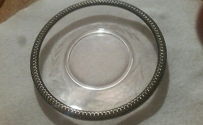 Sterling Silver Bread and Butter Plate, 6 inch,etching,marked