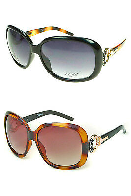 Gionni Womens Designer Cats Eye Diamonte Stud Sunglasses With Free Case Included